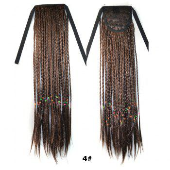 Charming Long With Braided Straight Fashion Heat Resistant Synthetic Capless Ponytail For Women