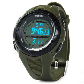 Skmei 1074 Sports Military LED Watch Week Alarm Date Stopwatch 5ATM Water Resistant