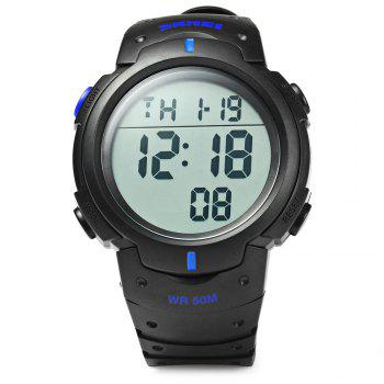Skmei 1068 Military Army LED Watch Water Resistant Stopwatch Alarm Day Date Function - BLUE