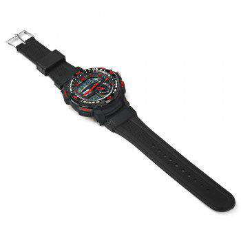 Skmei 1109 Water Resistant Sports Digital Men Watch with Double Movt - RED
