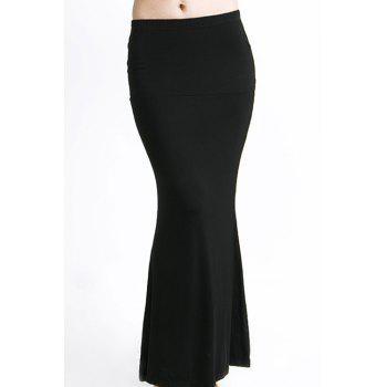 Stylish Solid Color Sexy Packet Buttock Fishtail Women's Skirt