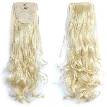Fashion Long Assorted Color Synthetic Stunning Shaggy Wavy Capless Women's Ponytail - PALE YELLOW 86/613# PALE YELLOW /