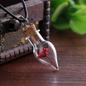 Cone Shape Bottle Dry Flower Necklace - RANDOM COLOR