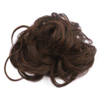 Fluffy Heat Resistant Fiber Prevailing Curly Women's Capless Chignons - BROWN 2/30# BROWN /
