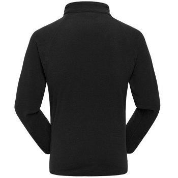 Umove Outdoor Polar Fleece Sweatshirt Warm Soft Anti-pilling for Autumn Winter - BLACK MAN 2XL
