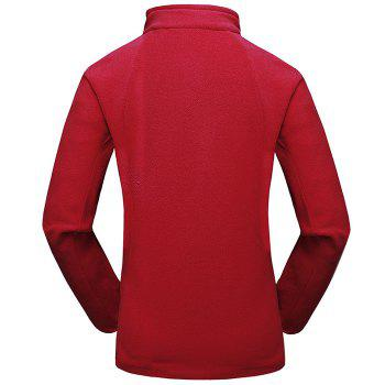 Umove Outdoor Polar Fleece Sweatshirt Warm Soft Anti-pilling for Autumn Winter - RED WOMAN RED WOMAN