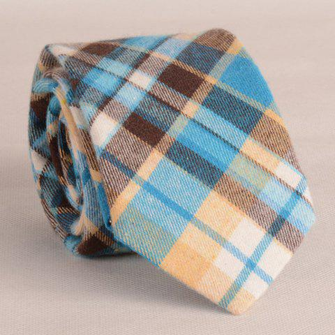 Stylish Multicolor Block Plaid Pattern 8CM Width Tie For Men -  AS THE PICTURE
