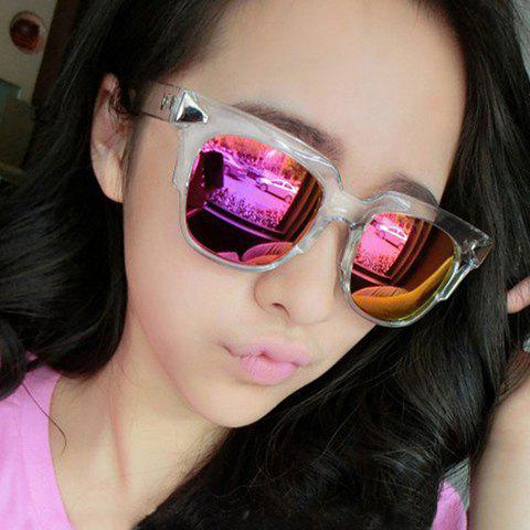 Chic Alloy Inlay Embellished Women's Quadrate Sunglasses - RANDOM COLOR PATTERN