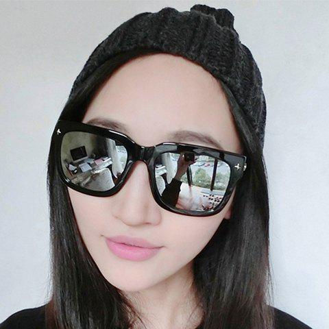 Chic Rivet Embellished Women's Quadrate Sunglasses - RANDOM COLOR PATTERN