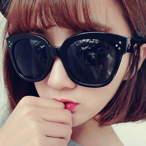Chic Polka Dot Shape Inlay Embellished Big Frame Women's Sunglasses - RANDOM COLOR PATTERN