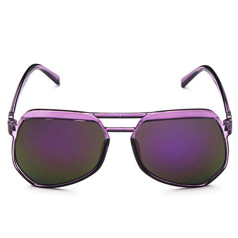 Chic Candy Color Transparent Frame Women's Sunglasses - PURPLE