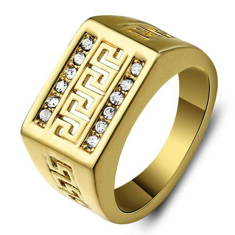 Rhinestone Hollow Out Ring - GOLDEN ONE-SIZE