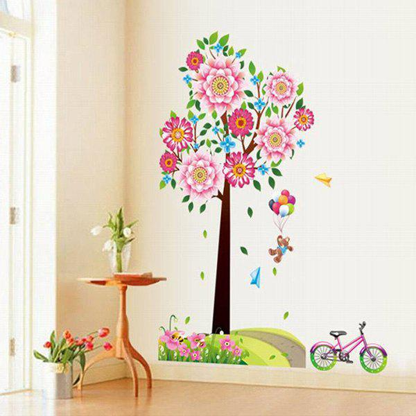 DIY Warm Big Tree Pattern Home Decoration Decorative Wall Stickers - RED/GREEN