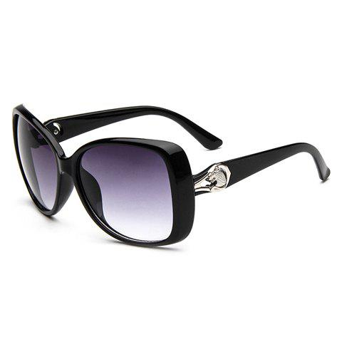 Chic Leopard Head Shape and Hollow Out Embellished Women's Sunglasses - RANDOM COLOR PATTERN
