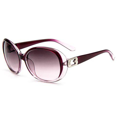 Chic Hollow Inlay Embellished Women's Sunglasses - RANDOM COLOR PATTERN