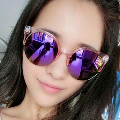 Chic Transparent Frame Candy Color Women's Sunglasses - PINK