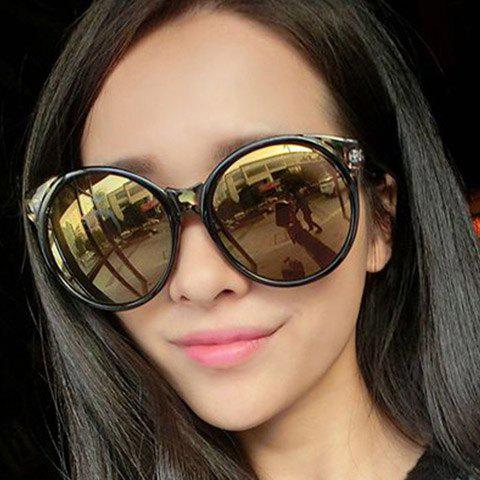 Chic Big Round Frame Women's Simple Sunglasses - RANDOM COLOR PATTERN
