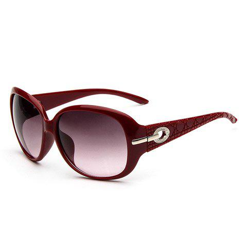 Chic Hollow Alloy Inlay Embellished Women's Sunglasses