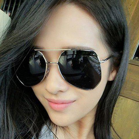 Chic Big Alloy Frame Outdoor Driving Women's Sunglasses