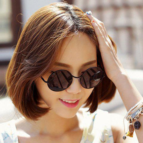 Chic Retro Alloy Round Frame Women's Sunglasses - RANDOM COLOR