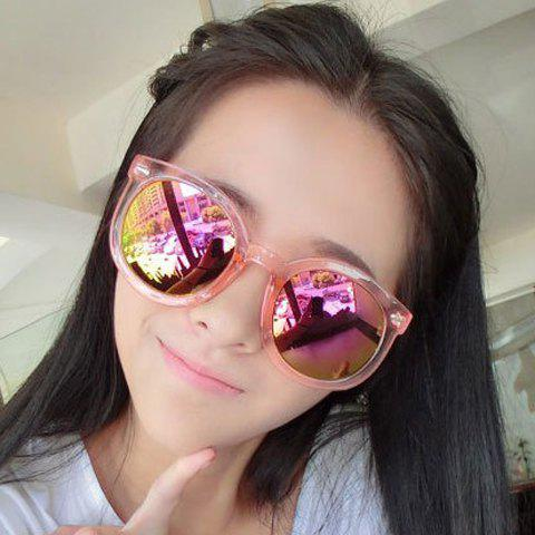 Chic Arrow Shape Embellished Candy Color Transparent Frame Women's Sunglasses - RANDOM COLOR
