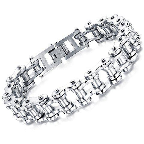 Characteristic Solid Color Motorcycle Chain Men's Bracelet