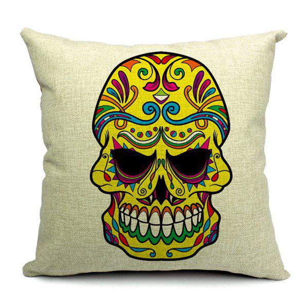 Modern Style Simple Skull Pattern Pillow Case (Without Pillow Inner)