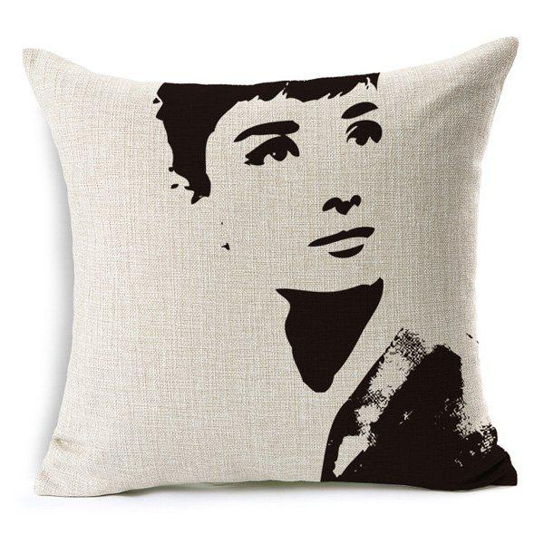 Simple Modern Style Character Pattern Pillow Case (Without Pillow Inner)