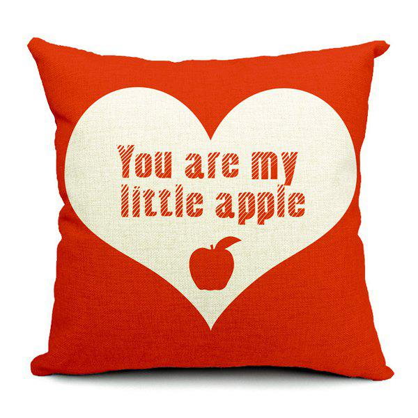 Simple Modern Style Apple Pattern Pillow Case (Without Pillow Inner)