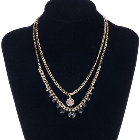 Chic Rhinestone Double-Layered Necklace For Women
