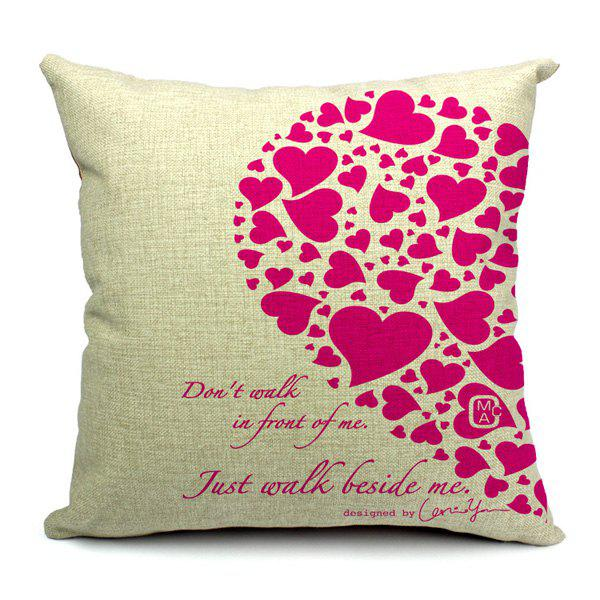 Simple New Love Theme Pillow Case (Without Pillow Inner) - RANDOM COLOR PATTERN