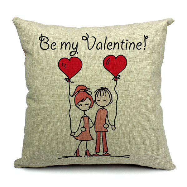 Simple New Sweet Lovers Pillow Case (Without Pillow Inner)