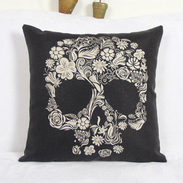 Classical Skull Household Linen Pillow Cover - NATURAL WHITE LIGHT