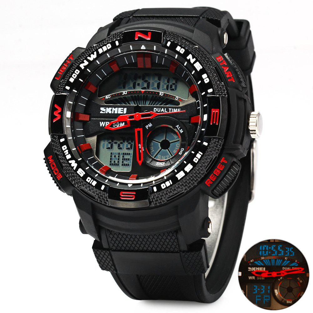 Skmei 1109 Water Resistant Sports Digital Men Watch with Double Movt