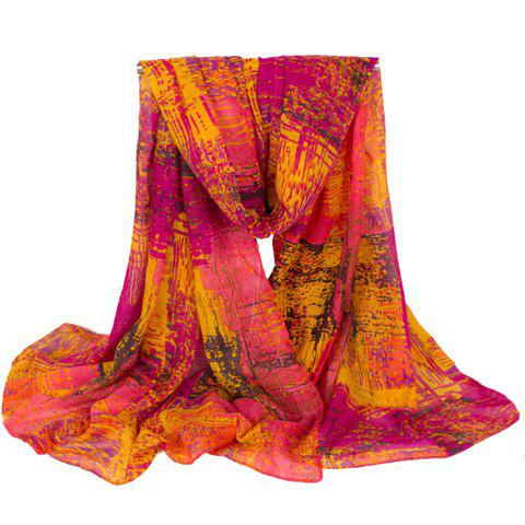 Chic Ethnic Vintage Style Women's Voile Scarf -  ROSE
