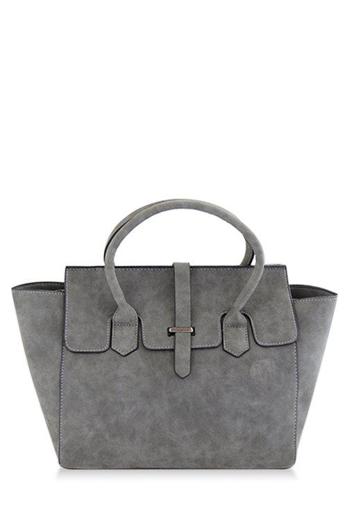 Charming Stitching and Solid Color Design Women's Tote Bag - GRAY