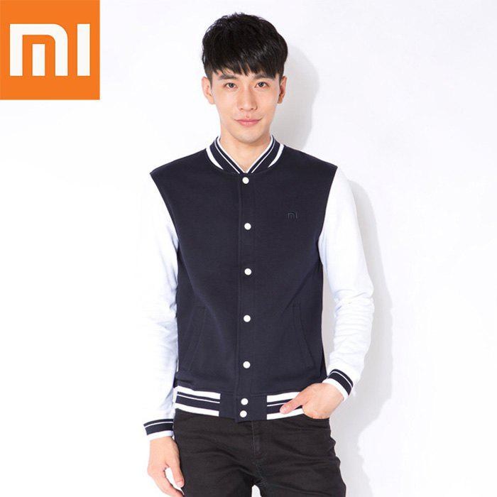 Xiaomi Autumn Sweatshirt Long Sleeve Baseball Sports T-shirt for Young Men - BLACK/WHITE XL