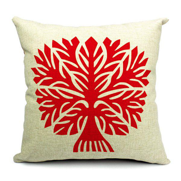 Artistic Modern Style Tree Pattern Pillow Case (Without Pillow Inner) - RED