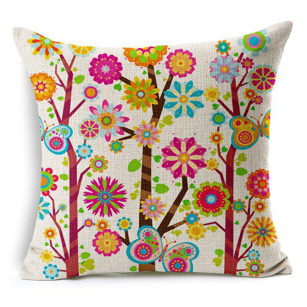 Fresh Floral Pattern Pillow Case (Without Pillow Inner) - RANDOM COLOR PATTERN