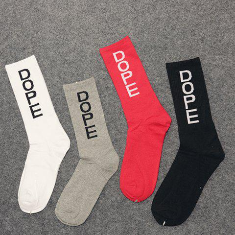 Pair of Stylish Name Letters Pattern Men's Socks - RANDOM COLOR