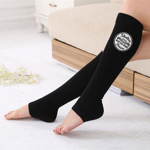 Pair of Chic Various Embroidery Foot Step Women's Warmth Leg Warmers