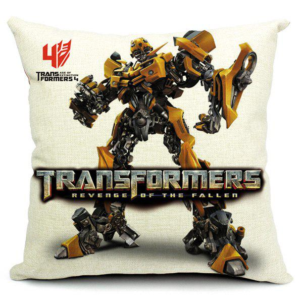 Stylish Transformers Printed Pillow Case(Without Pillow Inner) handpainted pineapple and fern printed pillow case