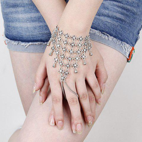 Flower Hollow Out Bracelet - SILVER