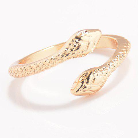 Trendy Solid Color Snake Cuff Ring For Women