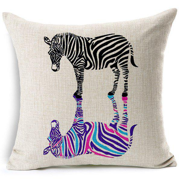 Fashionable Zebra Pattern Printed Square Pillow Case(Without Pillow Inner) - COLORMIX
