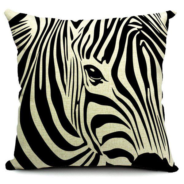 Fashionable Zebra Printed Square Pillow Case(Without Pillow Inner) - STRIPE