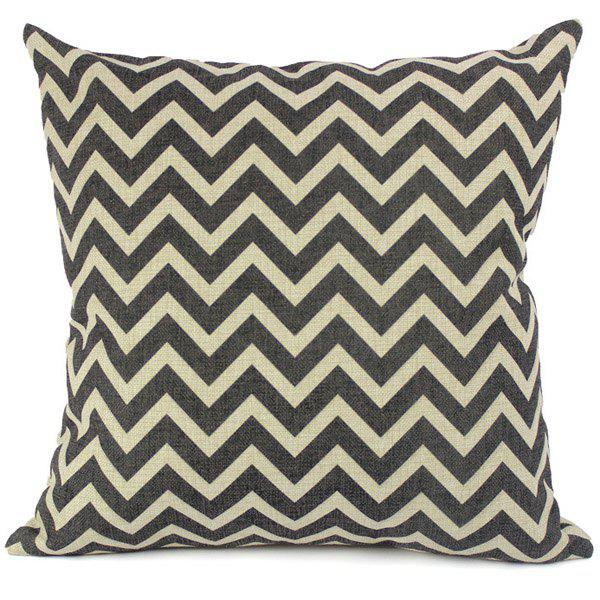 Fashionable Color Block Geometric Printed Square Pillow Case(Without Pillow Inner)