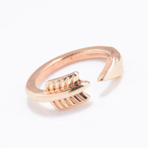 Trendy Solid Color Arrow Cuff Ring For Women