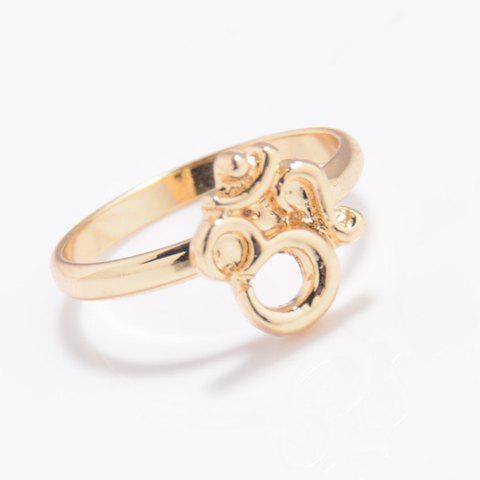 3D Number Geometric Ring - GOLDEN ONE-SIZE