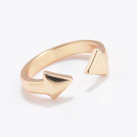 Chic Pure Color Arrow Cuff Ring For Women